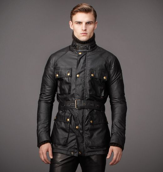 Belstaff Roadmaster Belted Jacket Black