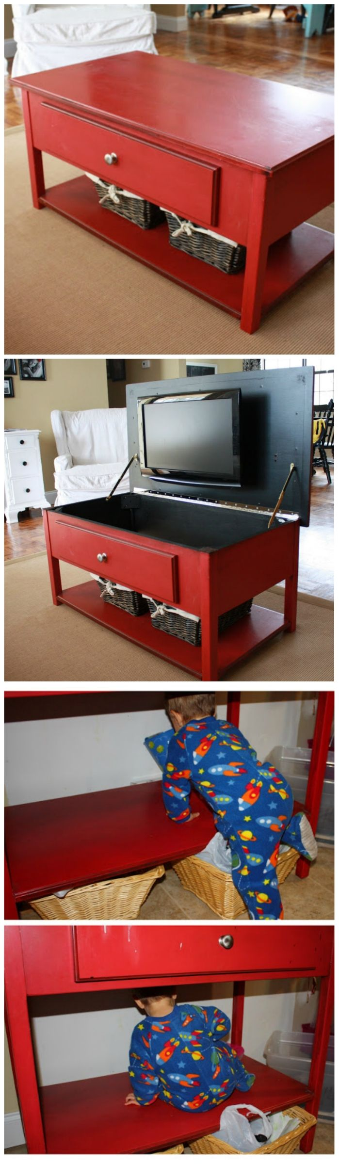 Amazing Red Coffee Table