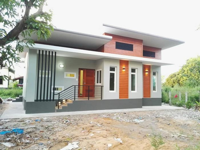 Modern Three Bedroom One Storey House Plan House And Decors House Front Design Modern Bungalow House Small House Design