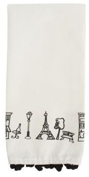 Parisian Icons Kitchen Towel - contemporary - dishtowels - Sur La Table