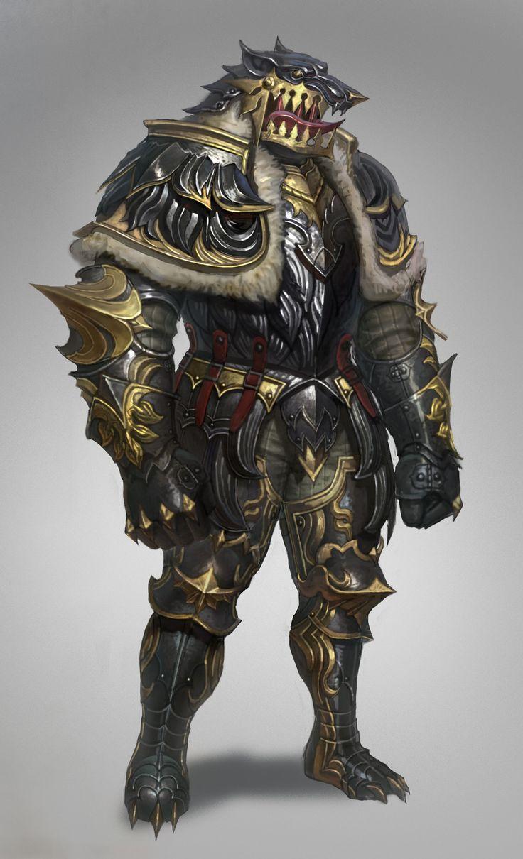 wolf armor, sueng hoon woo on ArtStation at https://www.artstation.com/artwork/lLZm5