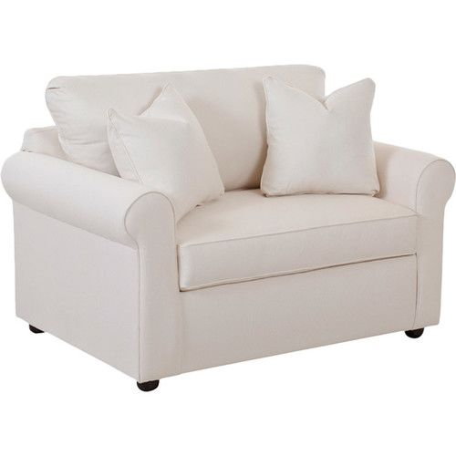 Found it at Joss & Main - Lance Sleeper Arm Chair.  Makes out into a twin bed.  Could use this in place of an actual bed.
