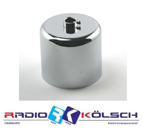 Leuchten Lampen Baldachin Metall chrom poliert Zylinderform 10mm Stellring
