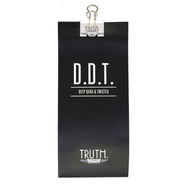 Truth's unique Deep Dark & Twisted blend provides a classic espresso flavour profile without the burnt, ashy finish