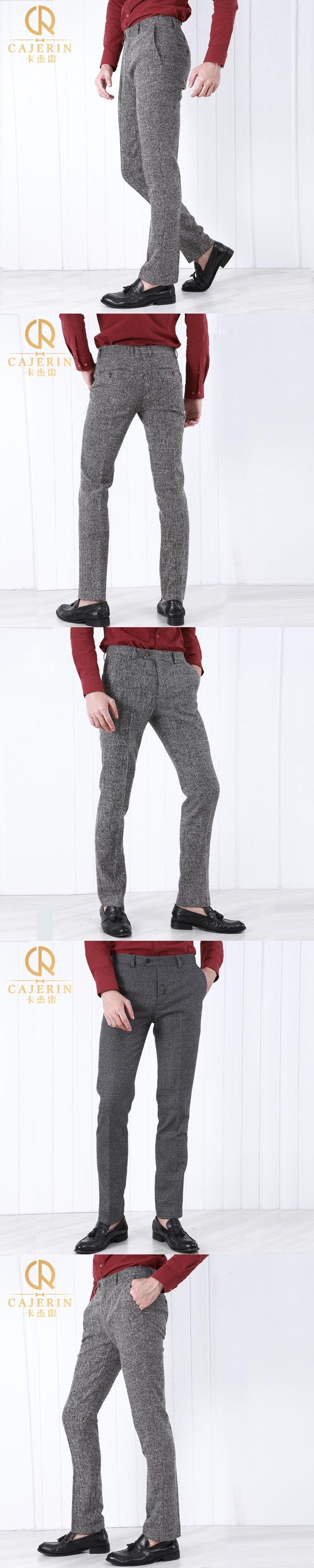 Pre Sale Brand Clothing men formal business wedding dress suit pants grey men slim fit groom prom suit trousers  plus size