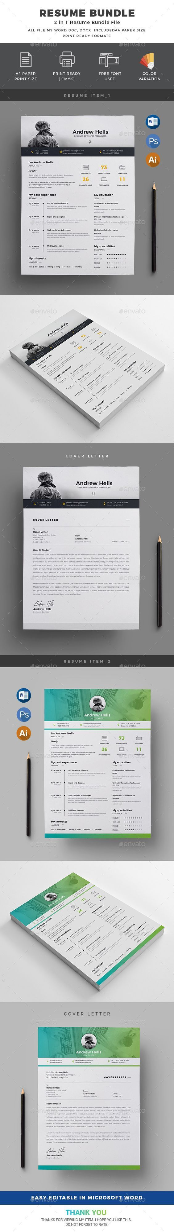 contoh format resume%0A  Resume Bundle   in    Resumes Stationery Download Here   https   graphicriver