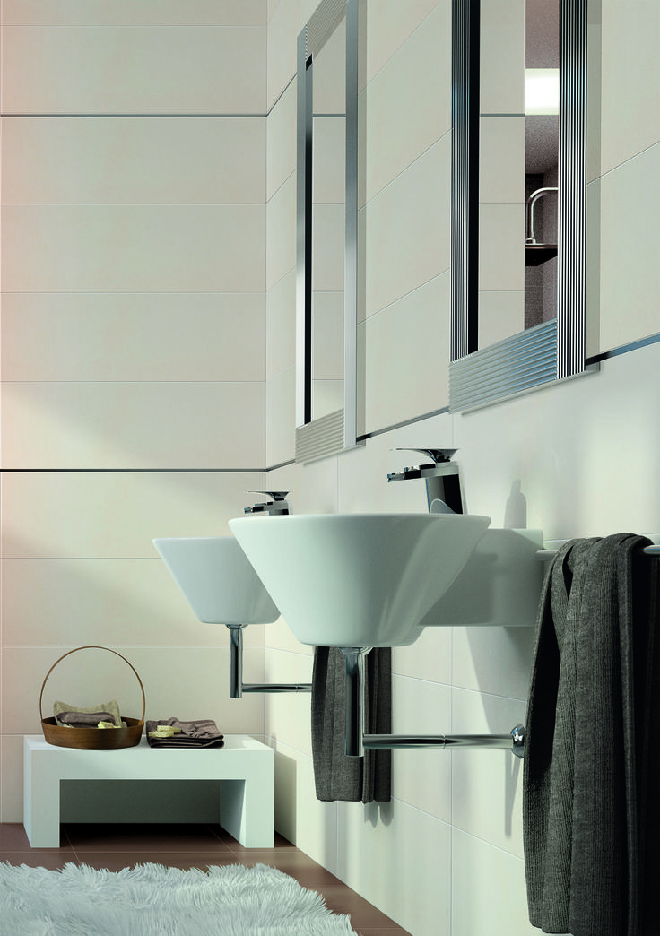 when designing a trendy but timeless bathroom the borneocacao ceramic tile series is a
