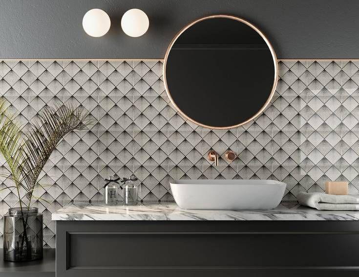Art Deco In A New Decade Art Deco Tiles Ceramic Tiles White Porcelain Tile