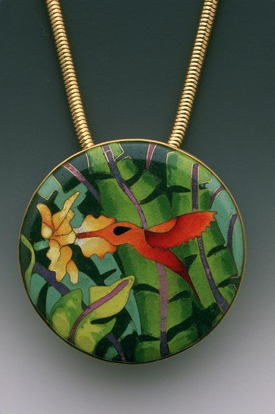 Lundell enamel pendant. Links to wonderful enamel site