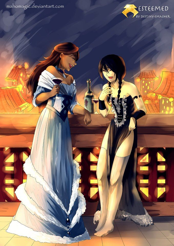 Toph and Katara- I like Kataras dress