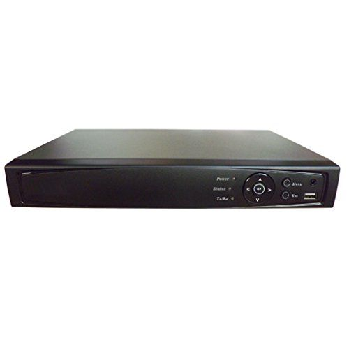 Digital Surveillance Recorder 16-Channel HD-TVI 1080p H.264 True-HD DVR with Pre-Installed 2 TB Hard Drive Playback Internet & Mobile Phone Accessible HDMI TVI/Analog/IP Smart Recording Real Time for CCTV Camera Home Office Security System Network (Only work with HD-TVI Cam, Standard Analog Cam and IP Cam)