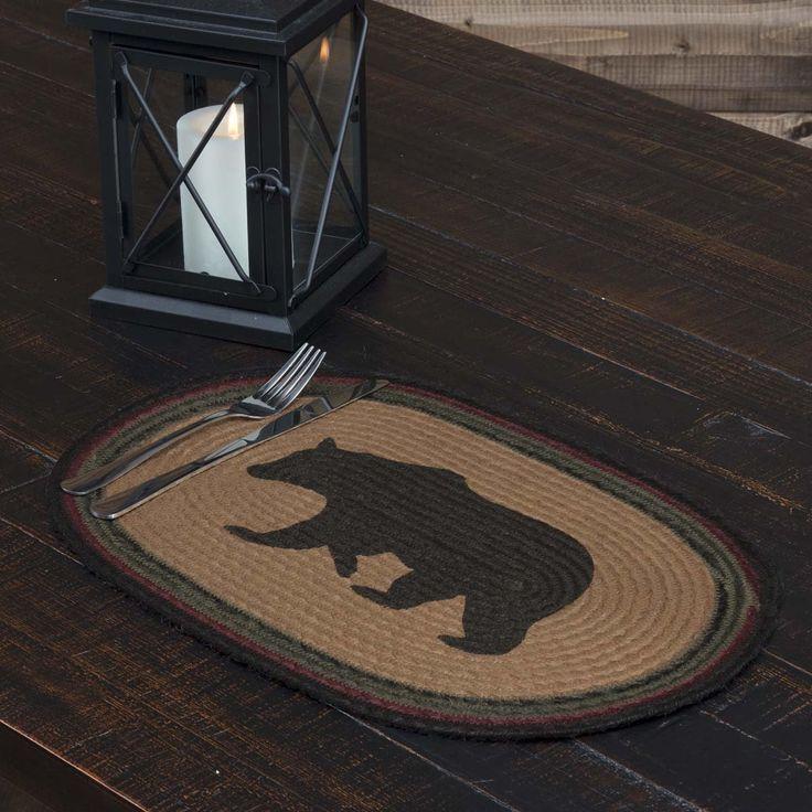 Wyatt Bear Jute Placemat Oval Set