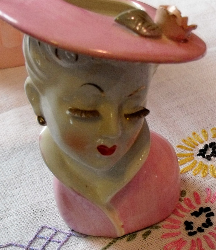 94 Best Images About Lady Head Vases On Pinterest