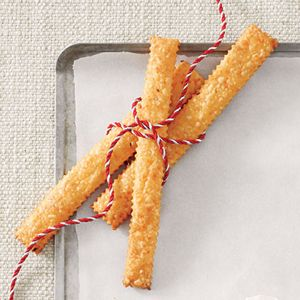 all about cheese straws: Chee Straws, Baking Sheet, Long Straws, Cheddar Cheese, Dips Knifes, Schools Snacks, Straws Recipes, Cheese Straws, Myrecipes Com Mobiles