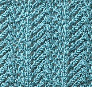 ścieg na drutach - groty