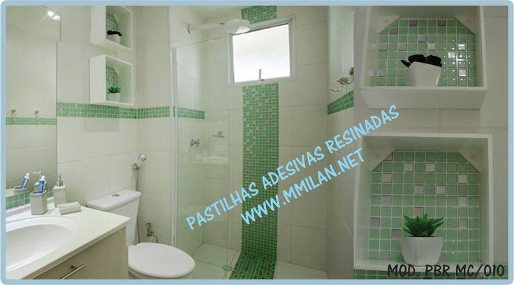 Mais de 1000 ideias sobre Pastilhas Adesivas Para Banheiro no Pinterest  Pas -> Decoracao De Banheiro Com Pastilha Adesiva
