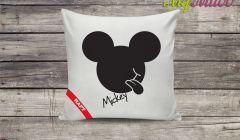 Poduszka dekoracyjna z haftem Mickey czarny