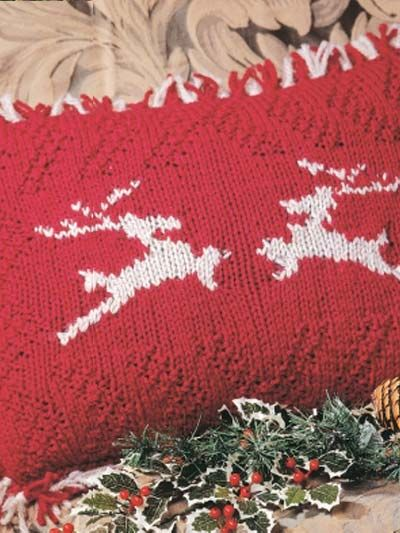 Free Knitting Patterns Christmas Pillows : 65 best images about Free Christmas Crochet/Knit Afghan, Pillow, Tree Skirt P...