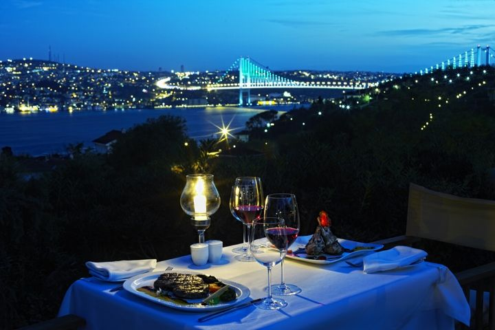 No matter the weather, the view of Bosphorus is the same! Shiny, mesmerizing and romantic...   How about booking your table at one of the most romantic Bosphorus restaurants?  http://www.istanbulfind.com/en/bosphorus-restaurants/25