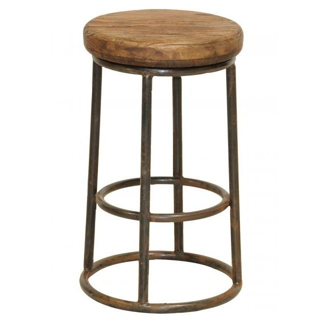 Industrial Counter Height Stools Part - 48: Industrial Rustic Counter Stool