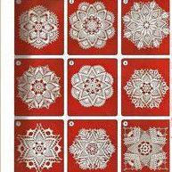 9 pcs Crochet Doily Diagram Only diagram Crochet Doily