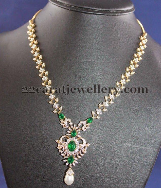 Jewellery Designs: Very Simple Diamond Set