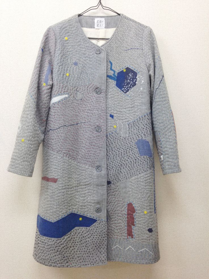14aw zazi sashiko coat (gray)