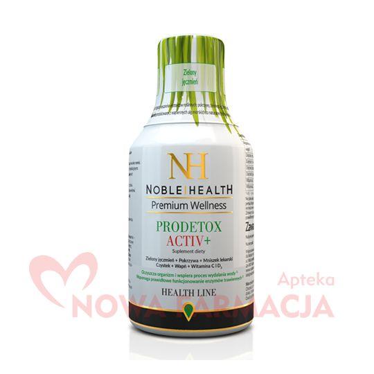 NOBLE HEALTH PRODETOX ACTIV+ - zielony jęczmień, oczyszcza organizm, płyn, 250 ml