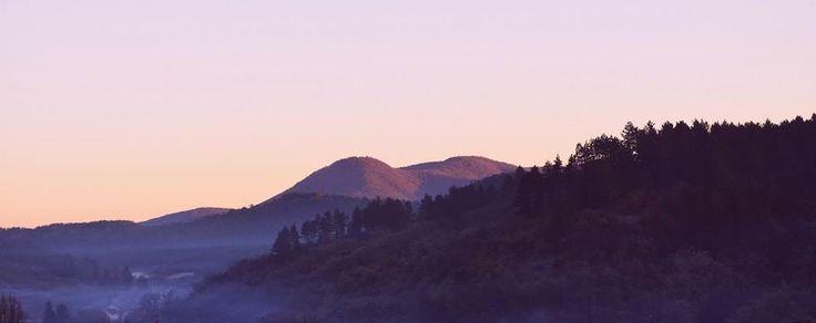 sweet purple home  mountain