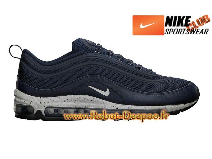 Nike Air Max 97 Premium EM City Pack Chaussures Nike Basket Pas Cher Pour Homme Bleu 554716-404