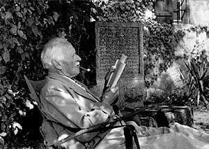 Carl Jung at Bollingen - People will do anything, no matter how absurd, to avoid facing their own souls. — C.G. Jung