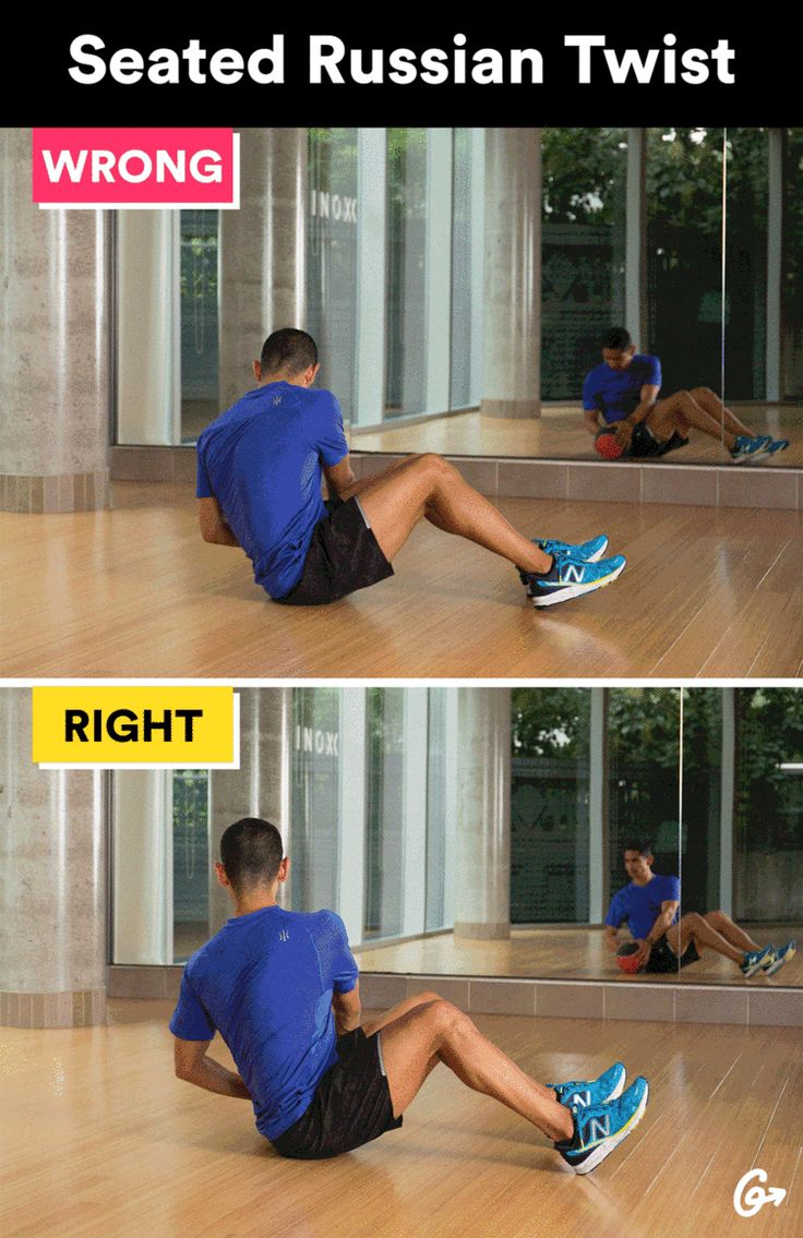 Seated Russian Twist  http://greatist.com/move/basic-exercises-moves-youre-doing-wrong-and-how-to-fix-them