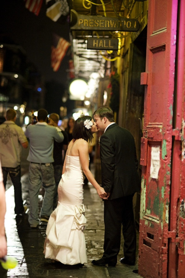 An Eclectic Style Wedding Celebrated With A Reception Held At Preservation Hall In New Orleans