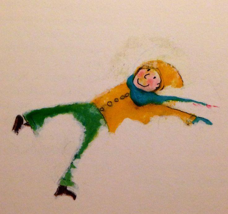 Illustratie Marije Tolman. Uit het boek 'Robin en god' van Sjoerd Kuyper.