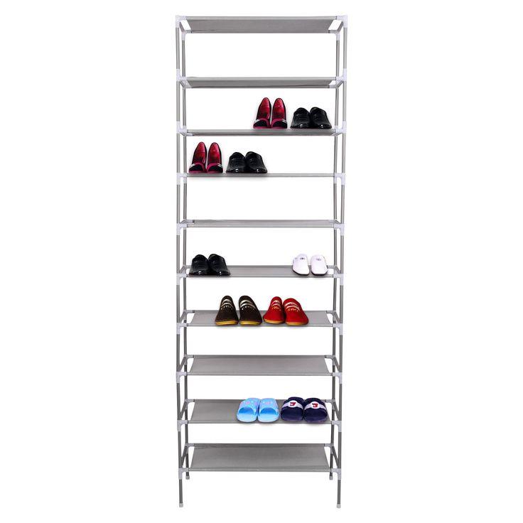 2/4/6/8/10 Tier Adjustable Shoe Storage Shoe Rack Organiser Shelf Easy  Assemble