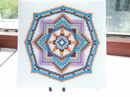 Ojo De Dios mandala pdf cross stitch chart / by TheEndlessKnot, £4.00