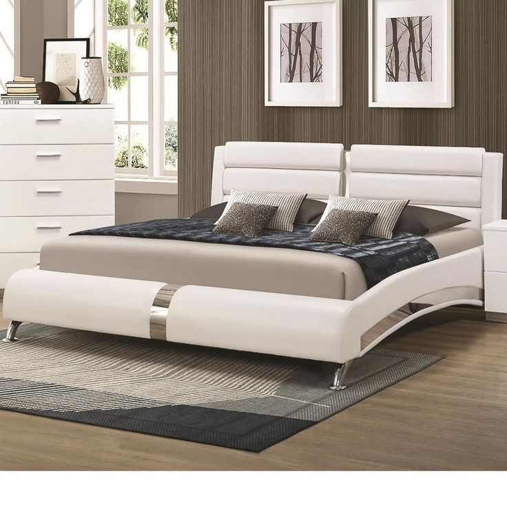 Create a modern look in your bedroom with the Porter Contemporary Bedroom Set. The glossy white finish is accented with metallic drawer pulls on each storage piece. The block feel will make your room feel larger than life.