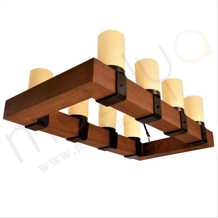Mozilya Doğal Ahşap Lata Avize  wood wooden lamp chandelier lighting unit  www.mozilya.com