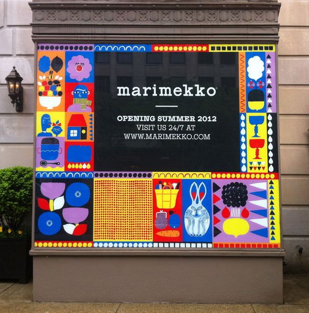 Marimekko has recently teamed-up with Finnish illustrator and designer; Aino-Maija Metsola to create this series of stunning brand visual language, which they are leveraging through a whole range of brand communications from store hoardings to point of sale and beyond.