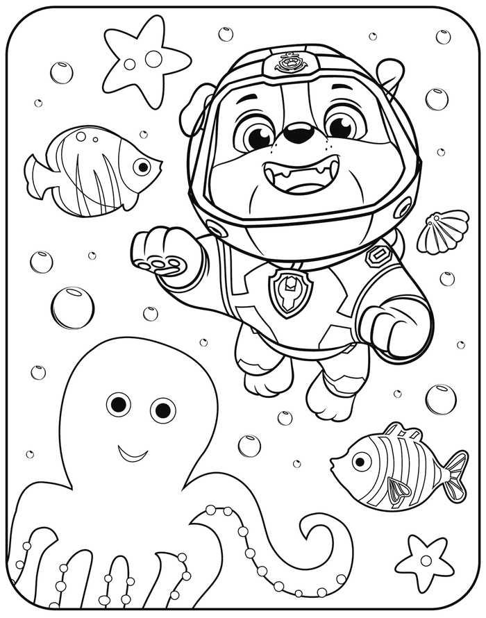 Cute Cute Rubble Paw Patrol Coloring Page Find Out Other Pictures