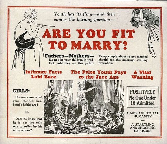 Are you fit to marry? Girls-be aware of WHERE your man has been. Vintage PSA for STDs?
