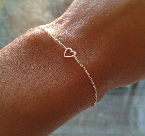 Sterling Silver HEART BRACELET Gift UK Shop by PABJewellery