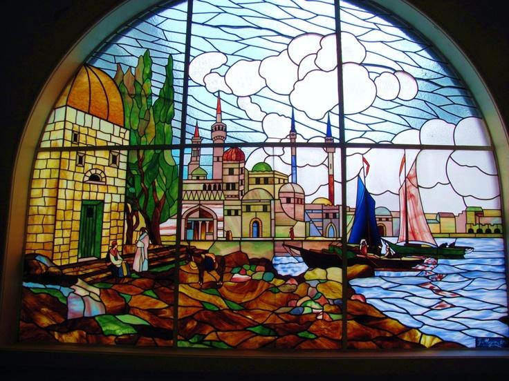 Hermoso Antiguo vitral en Valparaíso Chile