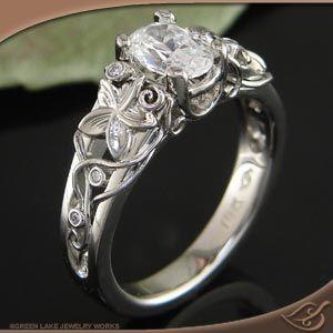 Organic Fabricated 14k white gold Ring