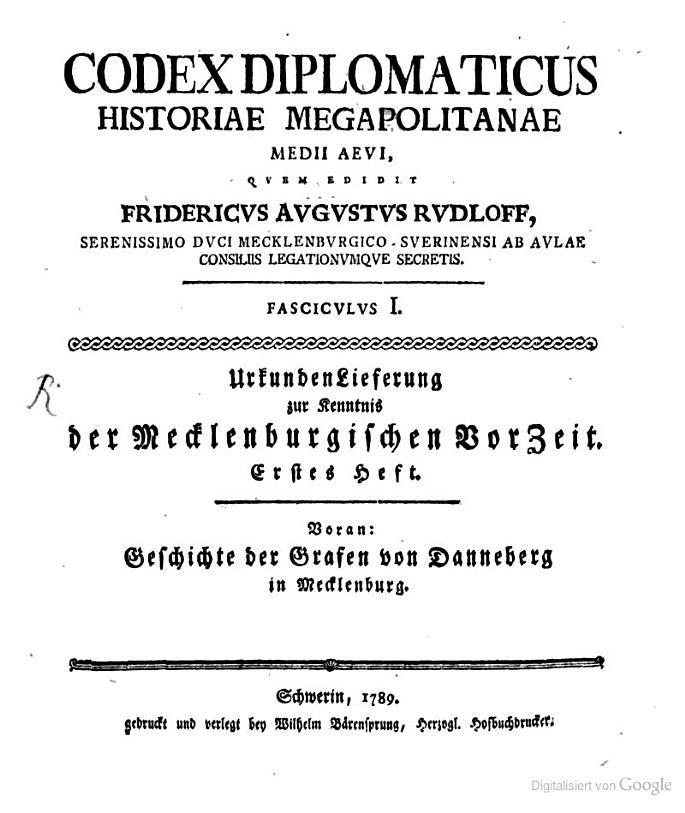 Codex Diplomaticus Historiae Megapolitanae Medii Aevi: Voran: Geschichte der ... - Google Books