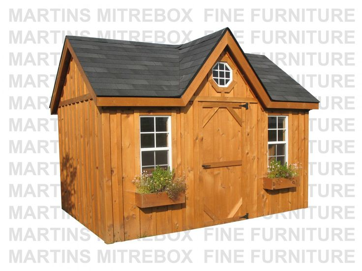 Martins Mitrebox Fine Furniture - 10'D x 12'W Victorian Storage Shed Stained And Assembled On Site, $7,441.50 (http://www.martinsmitreboxfinefurniture.com/10d-x-12w-victorian-storage-shed-stained-and-assembled-on-site/)