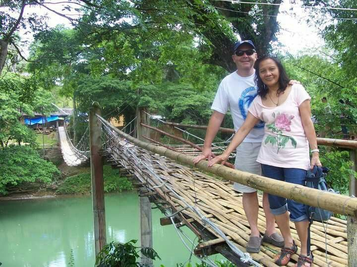 Bamboo bridge Laboc river Bohol 🌴🌴🌴🌴🌴🇵🇭🇵🇭