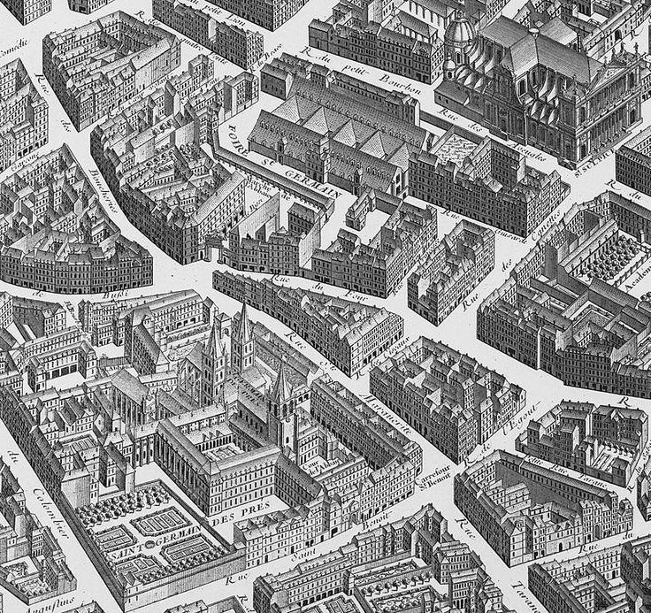 Plan de Turgot - Rue Sainte-Marguerite Saint-Germain, auj. rue Gozlin
