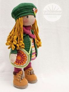Crochet pattern for doll IDA pdf Deutsch English
