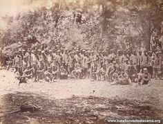 Regimiento Buin en Lurín, después de la batalla de Chorrillos, 1881